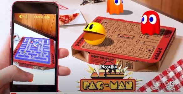 ИграйтеPacManвърху... кутия от пица(ВИДЕО)