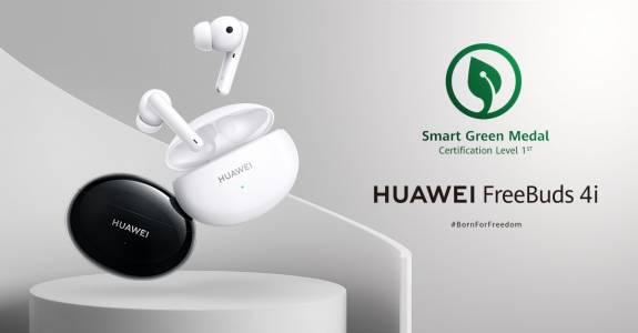 Слушалките Huawei FreeBuds 4i отличени с престижен зелен сертификат
