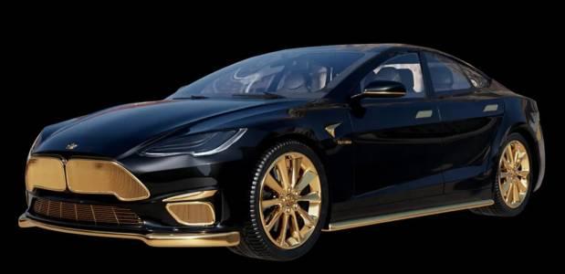 Най-скъпата Tesla в света е със златно покритие и най-вероятно няма да си я купите (ВИДЕО)