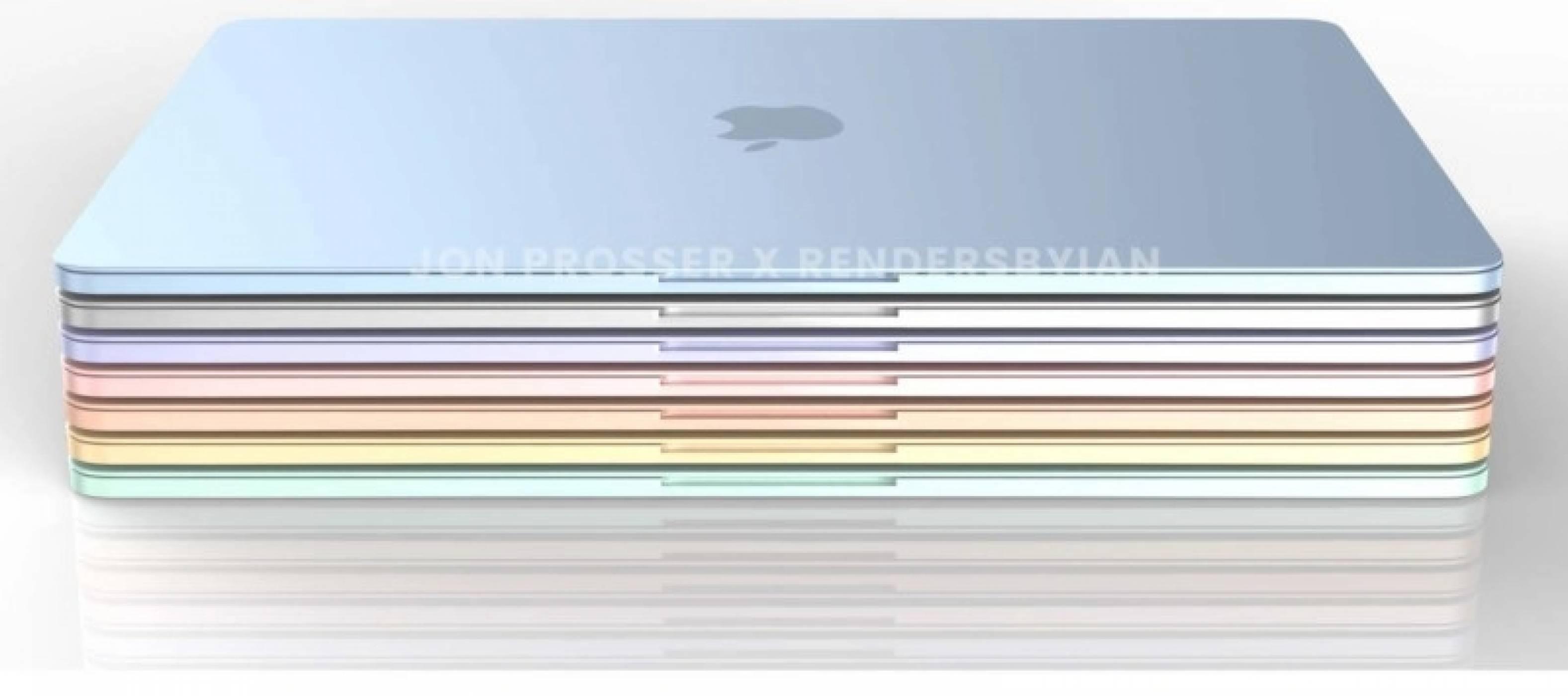 Следващият MacBook Air с чипа M2 ще дойде в най-различни цветове