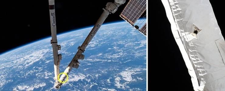 Космическите отломки удариха и повредиха Международната космическа станция