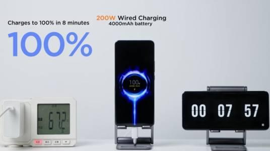 Новото зарядно на Xiaomi зарежда батерията от 0 до 100 за 8 минути