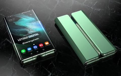Един за всички, всички за един: вижте как би изглеждал тройният телефон на Samsung
