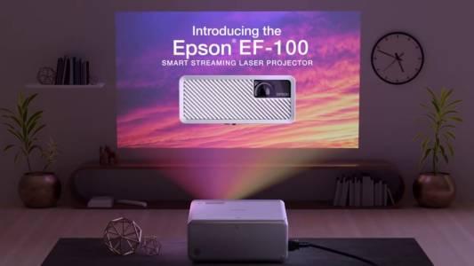 Преживей емоцията на европейското  на 150-инчов, ярък екран с Epson EF-100! (РЕВЮ)