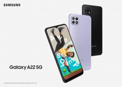 Galaxy A22 5G е тук – телефон от следващо поколение със супермощна скорост