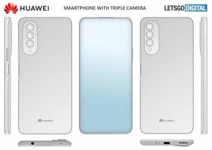 Huawei патентова вградена под дисплея селфи камера