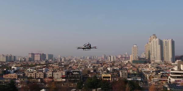 Летящите таксита в Южна Корея са съвсем близо до редовни полети над многомилионен Сеул